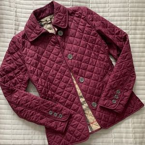 Burberry Brit Diamond Quilted Jacket Size XS